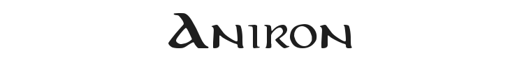 Aniron Font