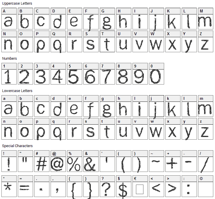 [ank] Font Character Map