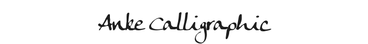 Anke Calligraphic Font Preview