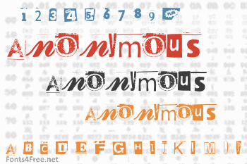 Anonymous Clippings Font