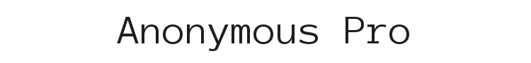 Anonymous Pro
