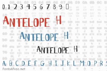 Antelope H Font