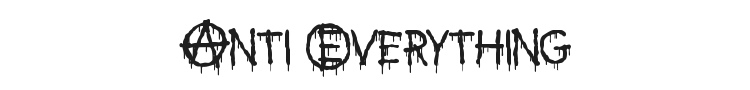 Anti Everything Font