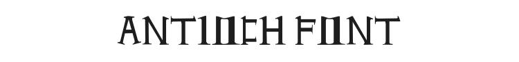 Antioch Font