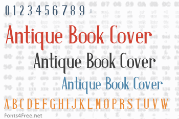 Antique Book Cover Font