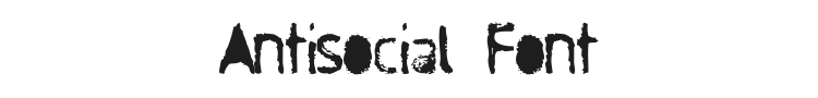 Antisocial Font Preview