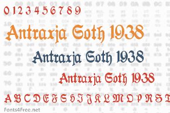Antraxja Goth 1938 Font
