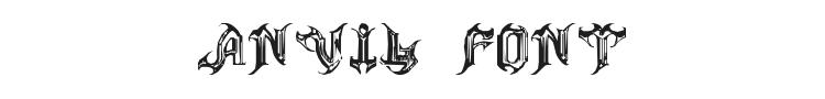 Anvil Font Preview