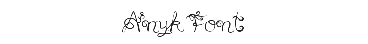 Anyk Font Preview