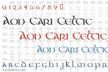 Aon Cari Celtic Font
