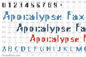 Apocalypse Fax Font
