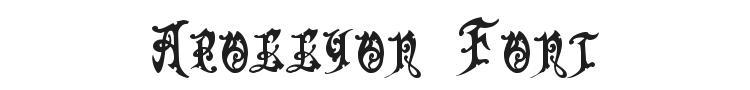 Apollyon Font Preview