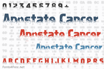 Apostate Cancer Font