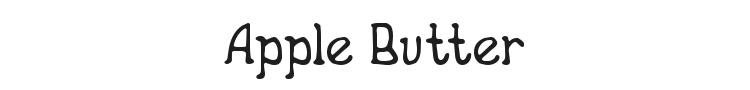 Apple Butter Font Preview