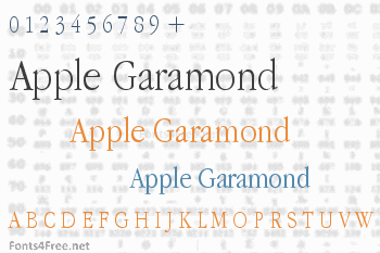 Apple Garamond Font