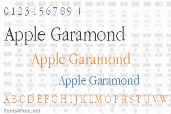 Apple Garamond Font