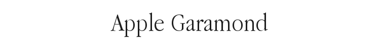 Apple Garamond Font Preview