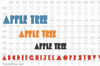 Apple Tree Font