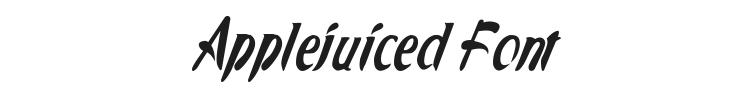 Applejuiced Font Preview