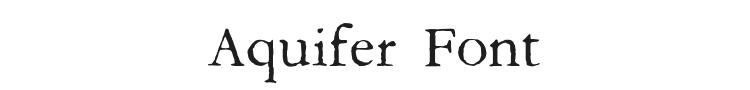 Aquifer Font Preview