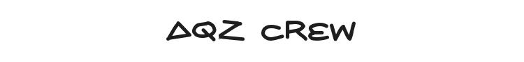 AQZ Crew Font Preview