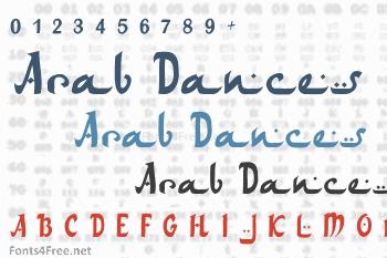 Arabic dance font free download