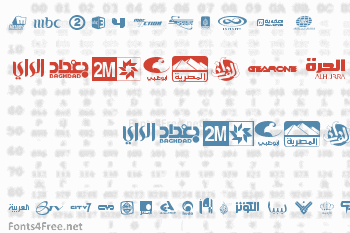 Arab TV logos Font