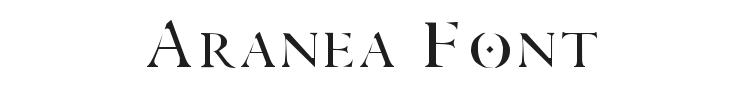 Aranea Font Preview