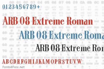 ARB 08 Extreme Roman AUG-32 CAS Font