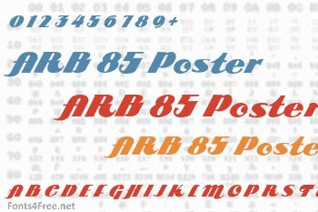 ARB 85 Poster Script JAN-39 Font