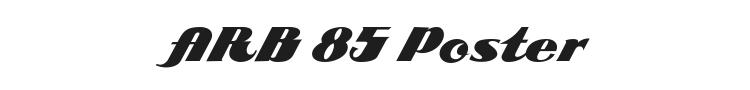 ARB 85 Poster Script JAN-39