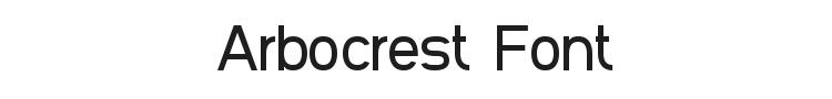 Arbocrest Font Preview
