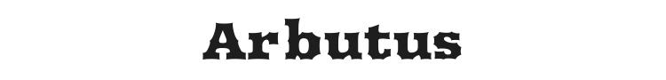Arbutus Font Preview