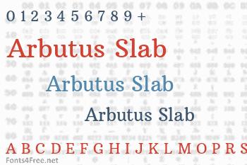 Arbutus Slab Font