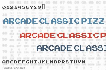 Arcade Classic Pizz Font