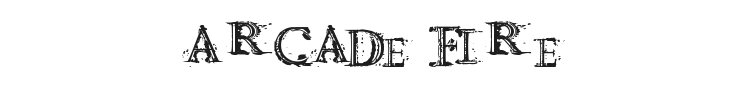 Arcade fire Font Preview