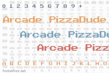 Arcade PizzaDude Font