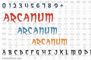Arcanum Font