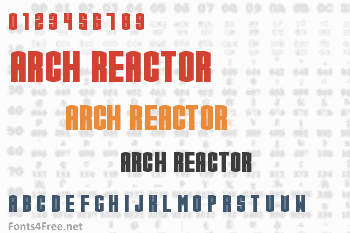 Arch Reactor Font