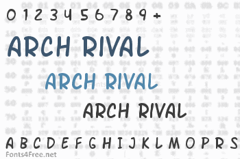 Arch Rival Font