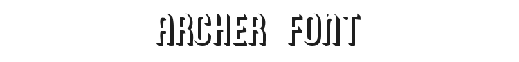Archer Font Preview