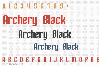Archery Black Font