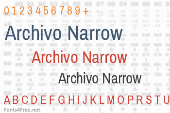 Archivo Narrow Font