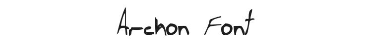 Archon Font Preview