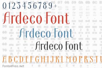 Ardeco Font