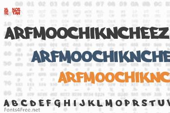 Arfmoochikncheez Font
