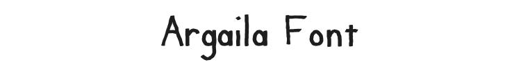 Argaila Font Preview