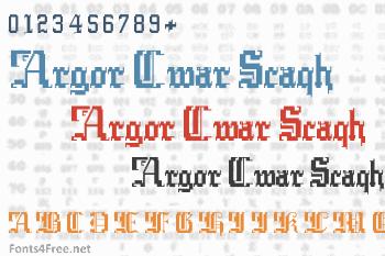 Argor Cwar Scaqh Font