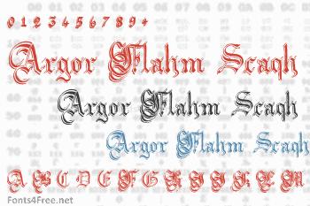 Argor Flahm Scaqh Font