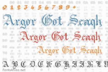 Argor Got Scaqh Font